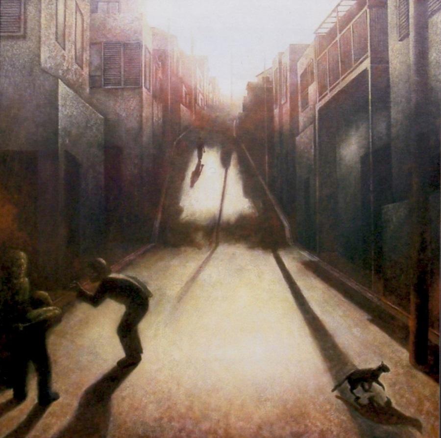 夕暮れの坂道